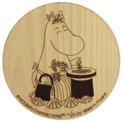 Moomin wooden coaster, Moominmamma and Berries
