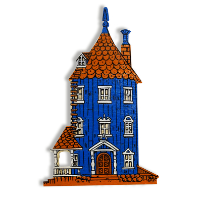 Moomin wooden magnet, Moomin House