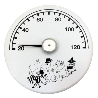 Moomin wooden sauna thermometer