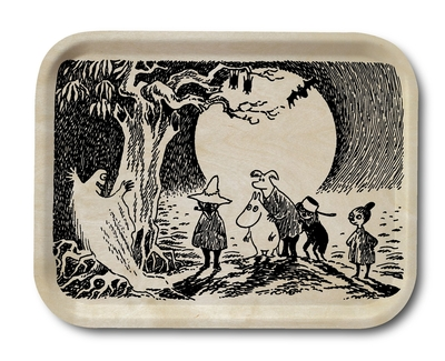 Moomin wooden serving tray, Ghost