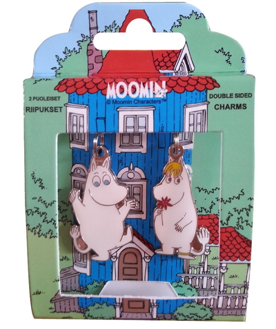 Moomin zip hanger set Moomintroll and Snorkmaiden
