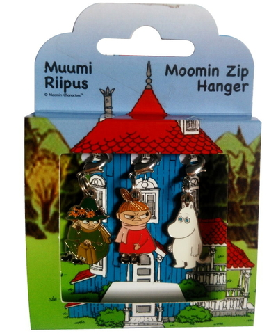 Moomin zip hanger set Snufkin, Little My and Moomintroll