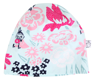 Moomins on a field ski hat, pink, different sizes