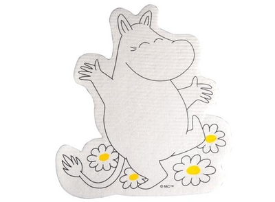 Moomintroll -dishcloth shaped