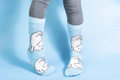 Moomintroll Somersault children's socks, blue