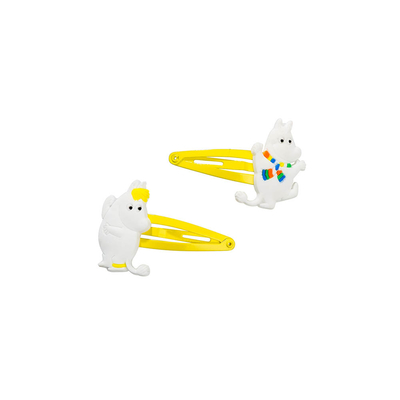 Moomintroll and Snorkmaiden -snap hair clip set