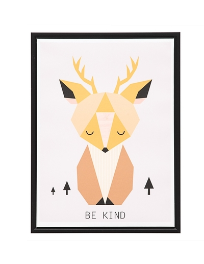 Moose wall poster with text, Be kind