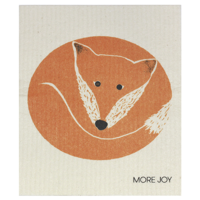More Joy dishcloth, fox