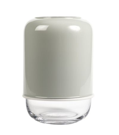 Muurla Capsule vase, transparent/grey