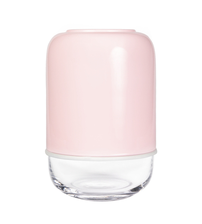 Muurla Capsule vase, transparent/light pink