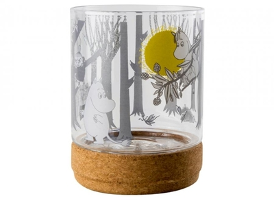 Muurla Moomin Forest glass lantern/jar with lid, 15,5cm/1,2L