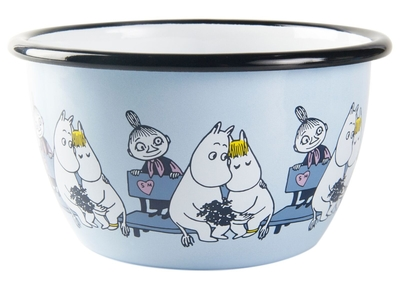 Muurla Moomin Friends enamel bowl 6dl, blue