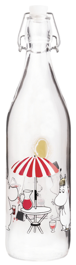 Muurla Moomin Glass Bottle 1L Time for Juice