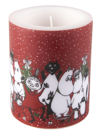 Muurla Moomin candle Winter Magic 12cm, red