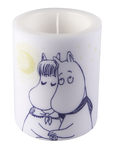 Muurla Moomin candle Winter Romance 12cm, white