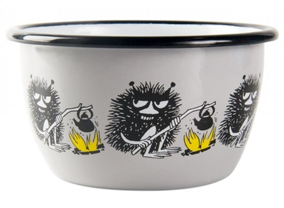 Muurla Moomin enamel bowl Friends 3dl, Stinky