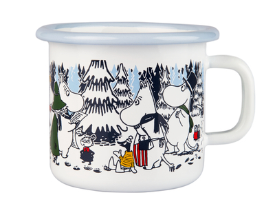 Muurla Moomin enamel mug 2,5dl, Winter forest