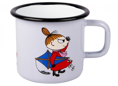 Muurla Moomin enamel mug 3,7dl, Little My, light purple