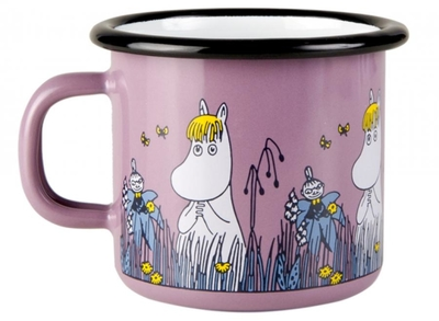 Muurla Moomin enamel mug Friends, Snorkmaiden & Little My, 2,5dl