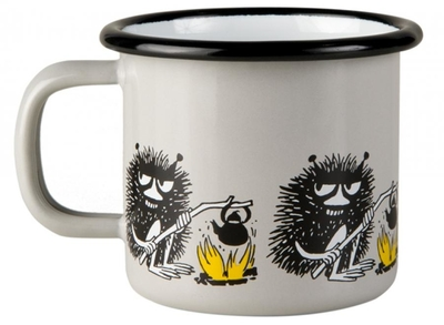 Muurla Moomin enamel mug Friends, Stinky, 1,5dl