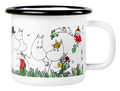 Muurla Moomin enamel mug Happy Family, 1,5dl