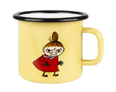 Muurla Moomin enamel mug Retro 2,5dl Little My, yellow