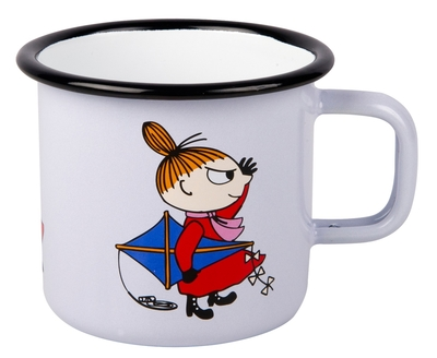 Muurla Moomin enamel mug Retro Little My, lilac 2,5dl