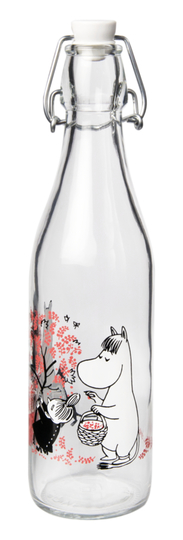 Muurla Moomin glass bottle 0.5l Berries