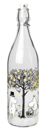 Muurla Moomin glass bottle 1l Apples