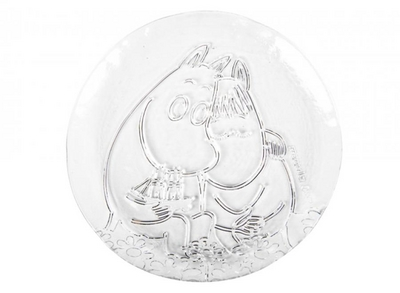 Muurla Moomin glass plate Together Forever 19cm