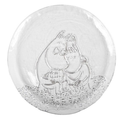 Muurla Moomin glass plate Together Forever 26cm
