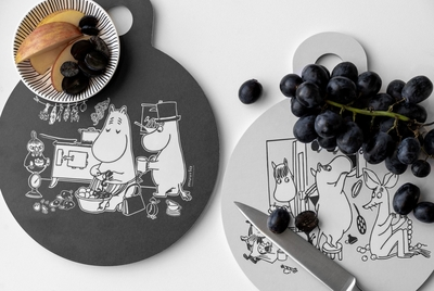 Muurla Moomin serving / cutting board, Moomins in the Kitchen