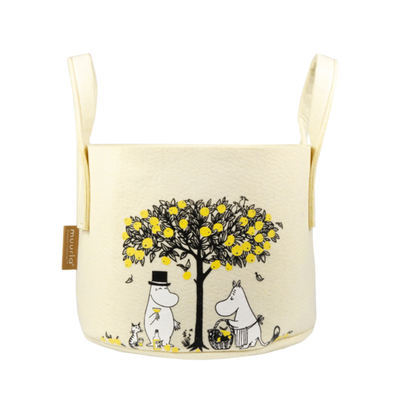Muurla Moomin storage basket Apples 17L, yellow