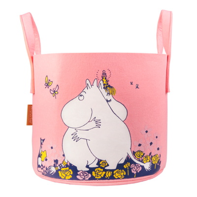 Muurla Moomin storage basket Hug 30L, light pink
