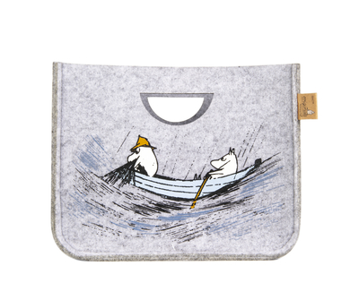 Muurla Originals Moomin decor basket Gone Fishing, grey