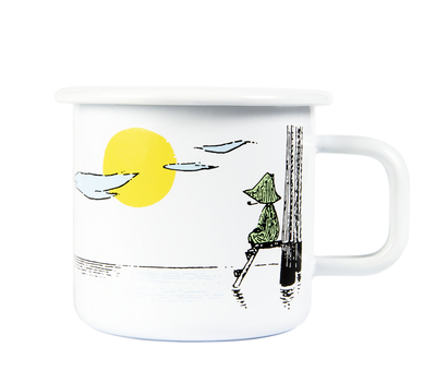 Muurla Originals enamel mug, Daydreaming, white