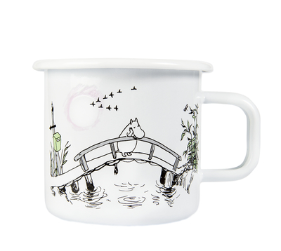 Muurla Originals enamel mug, Missing you, white
