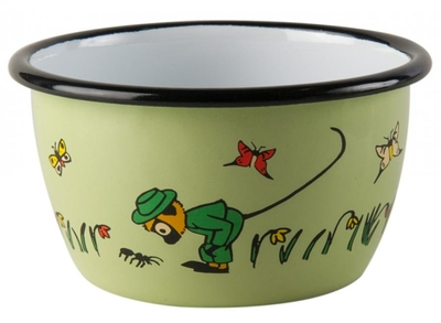 Muurla Pippi Longstocking enamel bowl 3dl Mister Nilsson, green