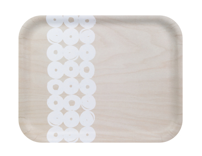 Muurla serving tray Vyyhti 36x28cm, birch/white