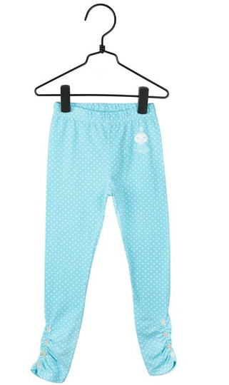 My Heart children's leggings, turquoise