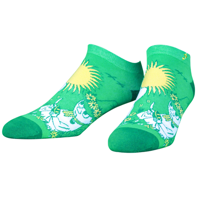 NVRLND Moomin adult's extra low-cut socks, Snufkin, green