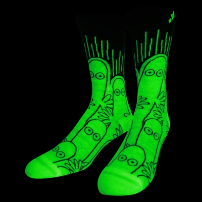 NVRLND adult's glow in the dark Moomin socks, Hattifatteners