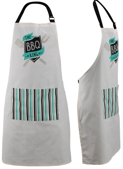 "No. 1 DAD ""BBQ King"" apron"