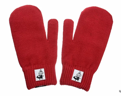 NordicBuddies Little My adults' gloves, red