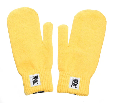 NordicBuddies Little My adults' gloves, yellow