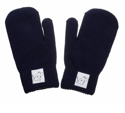 NordicBuddies Moomintroll children's gloves, dark blue