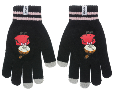 Nordicbuddies Little My Happy adult's (touch screen) gloves, black