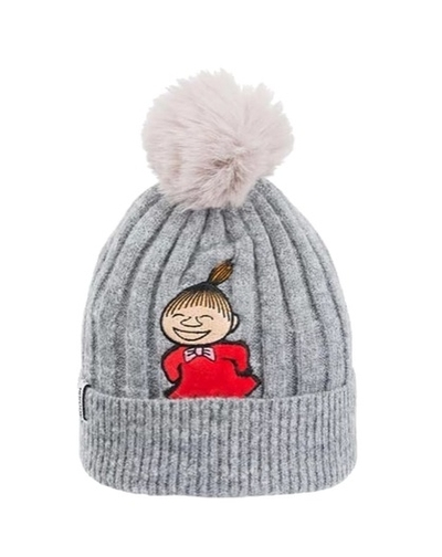 Nordicbuddies Little My Laugh children's beanie with a bobble, grey