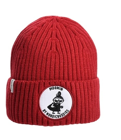 Nordicbuddies Little My adult's beanie, red