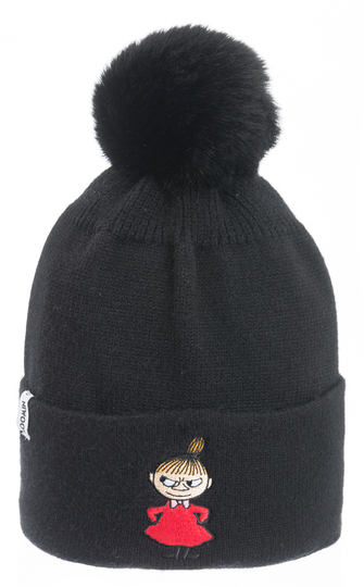 Nordicbuddies Little My adults'  beanie with a bobble, black